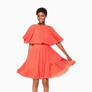 NWT kate spade pleated cape dress